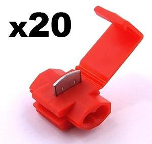 20x cosse electrique connecteur rapide rouge raccords. Black Bedroom Furniture Sets. Home Design Ideas