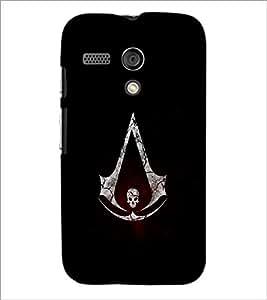 PrintDhaba Skull D-1261 Back Case Cover for MOTOROLA MOTO G (Multi-Coloured)