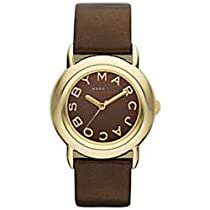 Marc By Marc Jacobs Marci IPG Brown Leather Strap Watch #MBM1185