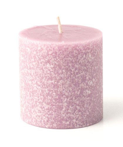 Root Candles Scented Timberline Pillar Candle, 3-Inch by 3-Inch, Lavender Vanilla