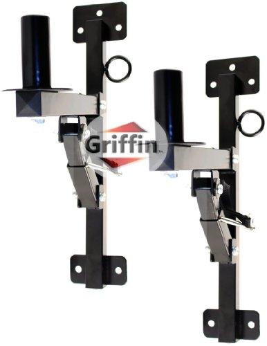 2 Pro-Audio Wall Mount Bracket Speaker Holders Stands Pa Dj Mountable Brackets Griffin