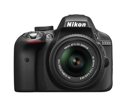 Nikon D3300 24.2 MP Digital SLR Camera (Black) with 18-55mm VR II Lens Kit Free Toshiba 16GB FlashAir Wi-fi (Class 10) SD Card + Photron Stedy 450 Tripod