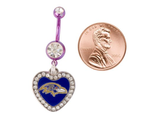 Baltimore Ravens Belly Button Navel Ring at Amazon.com