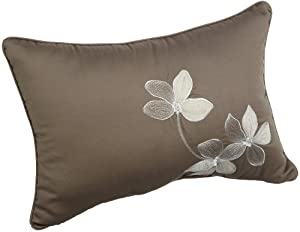 Croscill Home Cascade 20 by 14-Inch Boudoir Pillow, Chocolate