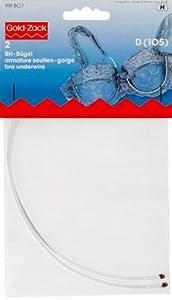 PRYM 991807 Bra underwires cup size D (105), 2 pieces