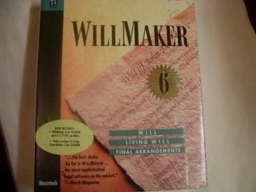 WillMaker 6 Legal Will, Living Will, Final Arrangements 1998 Windows 3.1/95/98