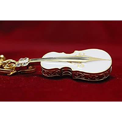 Anyusb081B Fancy Jewellery White Guitar Shape Pen Drive (8 Gb)