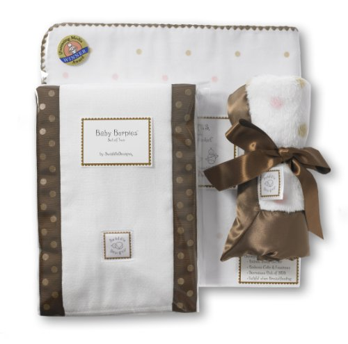 SwaddleDesigns Gift Set Little Dots, Kiwi/mocha