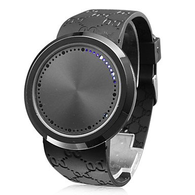 Touch Screen Creative Blue Led Flashing Wristband Watch front-587847