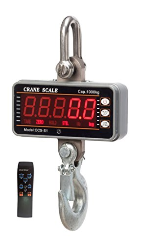 Sun-king(TM) High precision Stainless 1000KG 2000LBS 1T Aluminum Digital Crane Scale  Smart Type LED Display