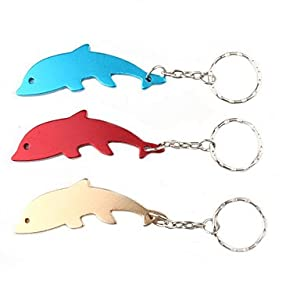 tint dolphin shaped bottle opener keychain random color kitchen dining. Black Bedroom Furniture Sets. Home Design Ideas