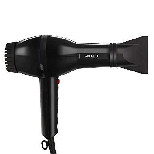 Le Beaute® Hair Dryer - Best Blow Dryer For Professional Salon Grade Treatment - Quality Ionic Ceramic Blower w/ Concentrator & Diffuser - Great For Travel - Black