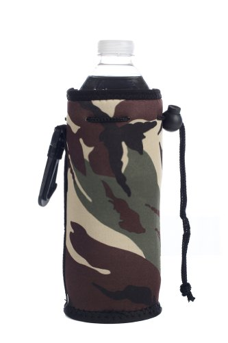 Neoprene Water Bottle Drawstring Insulator Cooler Koozie, Camo By Bags For Less front-87780