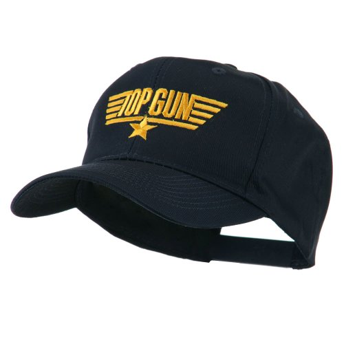 US Navy Top Gun Logo Embroidered Cap - Navy Color - Adult Size.