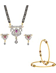 The Luxor Gold Plated Multicolor Regular Wear Combo Set For Women
