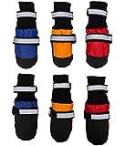 Megi® Waterproof Pet Boots for Medium to Large Dogs Labrador Husky Shoes 4 Pcs(blue,XL)