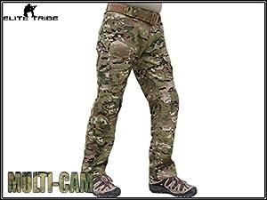 Homme Tenues de Combat Pantalon Militaire Paintball Gen2 Tactique Pantalon et Genouillères Multicam MC