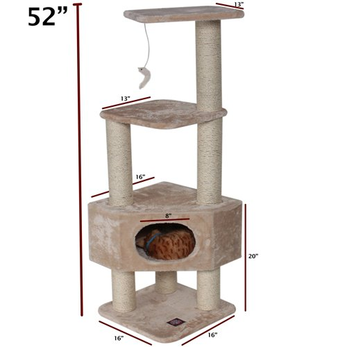 Majestic Pet 52-Inch Casita Fur for Cats Majestic Pet B003SZWLGK