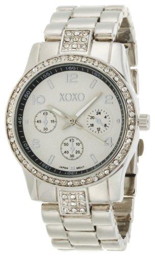 XOXO Women's XO5203 Rhinestone Accent Silver-tone Bracelet Watch