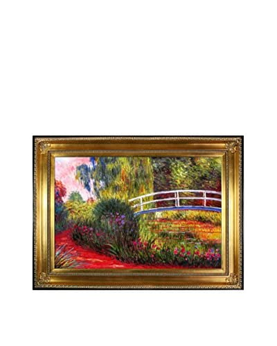 Claude Monet's The Japanese Bridge Framed Hand Painted Oil On Canvas