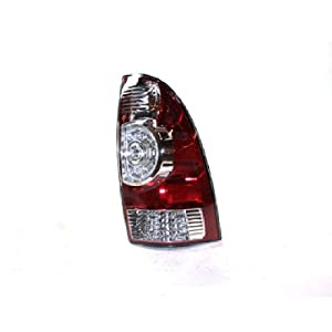 2008-2013 Toyota Tacoma 2WD & 4WD Pickup Truck LED Type Taillight Taillamp Rear Brake Tail Light Lamp (Clear Center Lens, Built After 5/01/08 Production Date) Right Passenger Side (08 2008 09 2009 10 2010 11 2011 12 2012 13 2013)