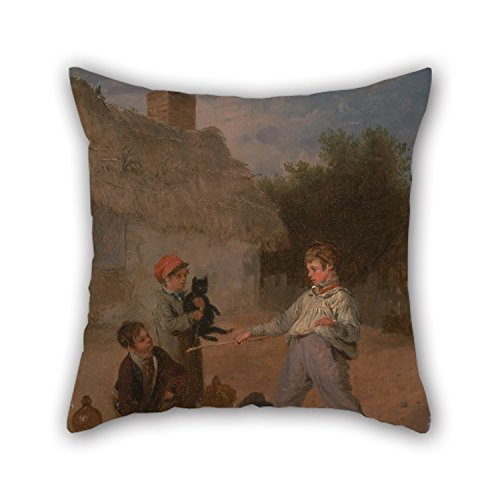 Uloveme Pillow Shams Of Oil Painting Edmund Bristow - The Rat Trap,for Bf,christmas,wife,drawing Room,teens Boys,bar 16 X 16 Inches / 40 By 40 Cm(two Sides) (Fish Trap X4 compare prices)