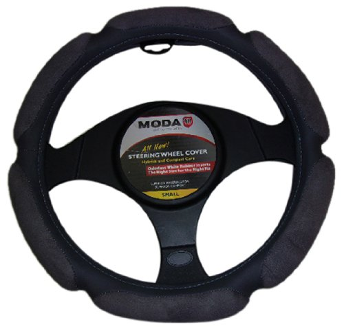 Moda Motorsports 9044 Grey Small Ergo Supreme Leatherette Steering Wheel Cover
