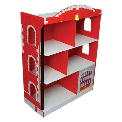 Kidkraft Firehouse Bookcase: White Ladder Bookshelf: Kidkraft Firehouse Bookcase