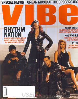 Vibe Magazine February 2002 Rhythm Nation Aisha Tyler Hot Wheels Rappers
