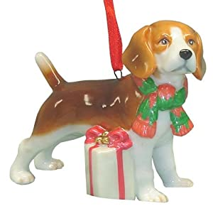 #!Cheap Cute Christmas Holiday Beagle Dog Ornament Statue Figurine Decoration