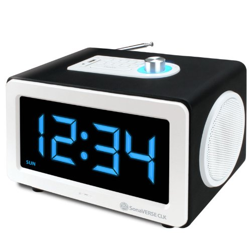 Gogroove Sonaverse Clk Alarm Clock Speaker System W/ Large Bright 7.5-Inch Led Display & Powerful 6-Watt Sound