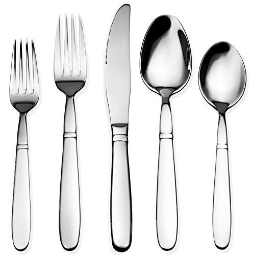 Bruntmor, CRUX Silverware Royal 40 Piece Flatware Cutlery Set, 18/10 Stainless Steel, Service for 8 - Lifetime Warranty 100% Rust
