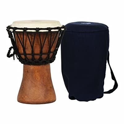 X8 Drums African Ghana Travel Djembe with Bag