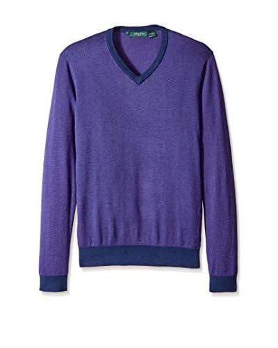 Bobby Jones Men's Lux Blend Oxford V-Neck Sweater