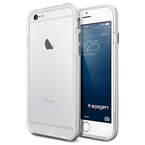 iPhone 6 ケース, Spigen® [ スリム バンパー ] Apple iPhone 4.7 (2014) ネオ・ハイブリッド EX The New iPhone アイフォン6 (国内正規品) (サテン・シルバー SGP11026)