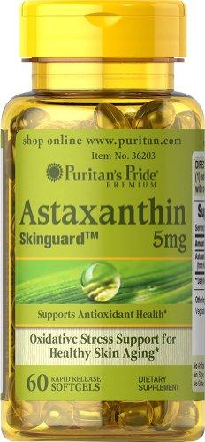 Fierté astaxanthine Puritan 5 mg-60 gélules
