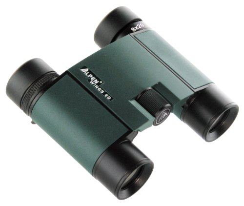 Alpen Optics Wings 8X20 Ed Hd Waterproof Roof Prism Compact Binocular