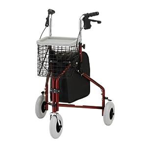 NOVA Medical Products Traveler 3-Wheel Walker, Red