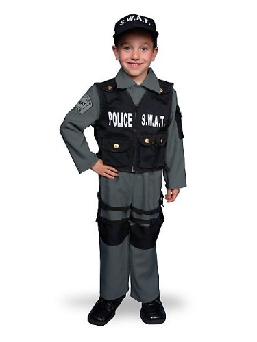SWAT Police Set Child Costume Size 4-6 Small
