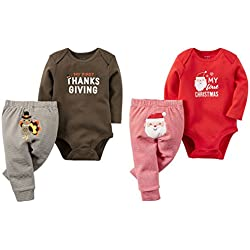 2c26aa4d4 Carter's Baby 2 Pack My First Christmas and Thanksgiving Set Unisex (9  months)