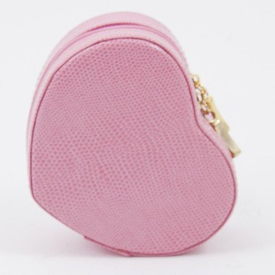 Heart Shaped Small Jewelry Box Color: Pink