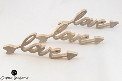 Cursive Love Sign, Grey stained wood, Love sign stands up on its own. Great for wedding gift, anniversary gift or bridesmaids gifts!