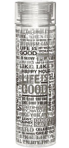 Life Is Good Double Wall Water Bottle (Winter Gray), One Size front-453032
