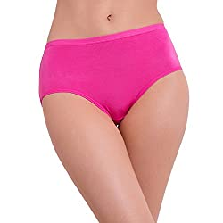 Pavvoin Women's Maroon Brief Panty - Size - Small