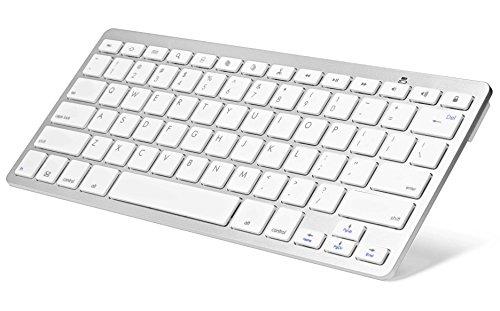 Sparin® Ultra Slim Mini Bluetooth 3.0 Wireless Keyboard For New Google Nexus 9, Google Nexus 7 2013 Tablet, Samsung Galaxy Tab Series, Samsung Galaxy Note Sereies And Other Android Tablets - Google Nexus Series, White