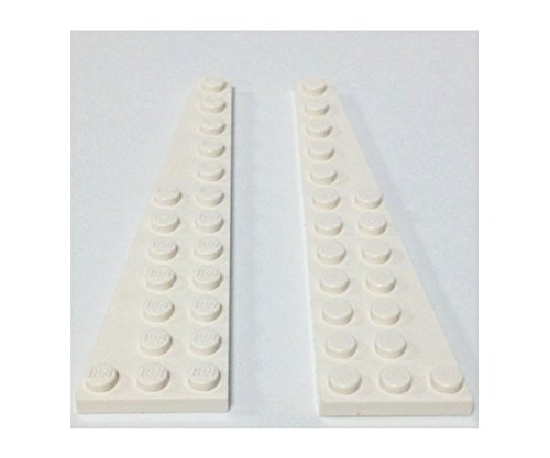 Lego Parts: Wedge, Plate 12 X 3 (Right & Left Pair - White)