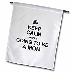 InspirationzStore Typography - Keep Calm Youre going to be a Mom - future mother mommy text gift - Flags from 3dRose LLC