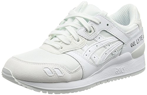 Asics Gel-Lyte Iii, Scarpe Running Unisex - Adulto, Colore Bianco (White/White), Taglia 40 EU (6 UK)