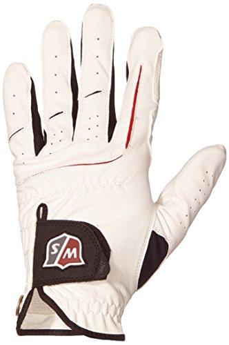Wilson Staff - Guanto da golf da uomo Grip Plus MLH, Sinistra, Bianco (bianco), XL
