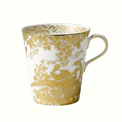 Royal Crown Derby Aves-Bicchiere, colore: oro/bianco